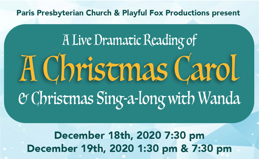 "Buy Tickets Now.  ""A Christmas Carol"" coming December 18th & 19th"